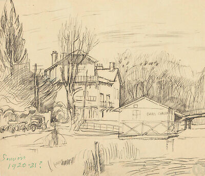 Frank Griffith (1889-1979) - 1920 Pen and Ink Drawing, Sauvion, France