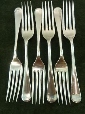 6 Vintage Dinner Table Forks Old English pattern silver plated EPNS Super  A