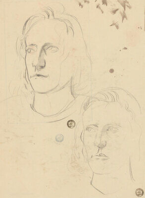 Frank Griffith (1889-1979) - Early 20th Century Graphite Drawing, Head Studies