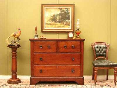 ANTIQUE COLONIAL CEDAR 4 DRAWER CHEST ~ LOVELY GRAIN, GREAT STORAGE ~ Mid 1800s