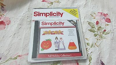 Brother Bernina White Babylock Amazing Designs Fall Holiday Embroidery Card EXC