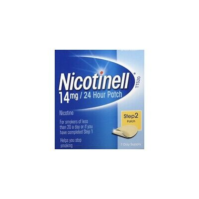 Nicotinell TTS20 14mg / 24Hour Nicotine Patch Step 2 7 Day Supply