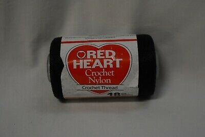 Red Heart Crochet Nylon Thread Size Color 19 Black 18 150 Yds 1 Roll New