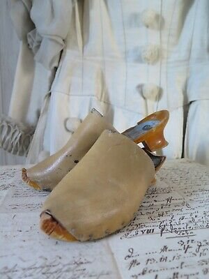 Antique french SABOTS  Sables d´Olonnes Costume Kinder Schuhe Clogs antik