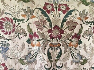 Antique French woven altar frontal cloth - machine embroidery