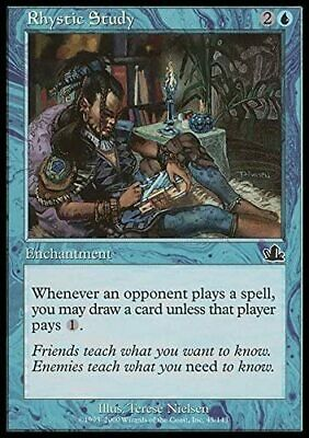 1 Rhystic Study Blue Prophecy MTG Magic Common