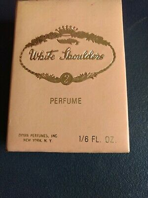 Vintage Evyan White Shoulders 1/6 ounce Perfume in  Presentation Box
