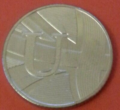 NEW A-Z 2019  ALPHABET 10p COIN HUNT- LETTER U - UNION FLAG  UNCIRCULATED s/bags