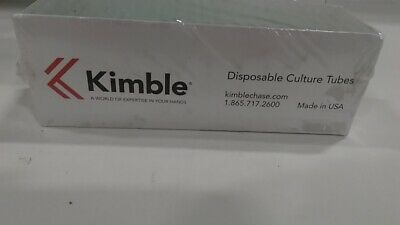 Kimble 60AM10 Soda-lime Glass Unmarked Disposable Culture Tube, 3 ml Capacity
