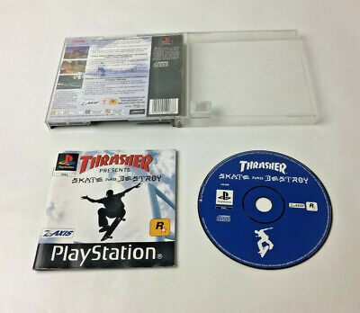 Thrasher Skate And Destroy - Sony Playstation 1 PS1 Game - UK PAL