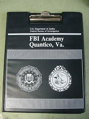 "FBI ACADEMY Quantico Virginia Portfolio for 8.5""x11"" tablets w/ CO provenance"