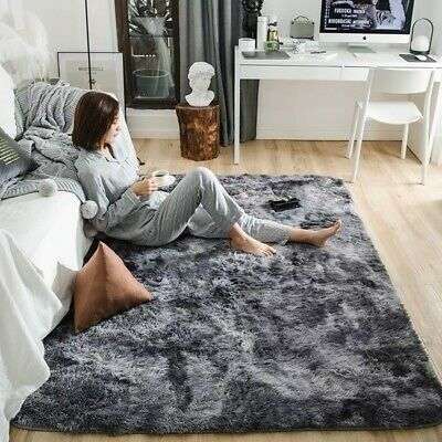 Carpet Large Fluffy Rugs Anti-Skid Shaggy Area Rug Dining Room Bedroom Floor Mat