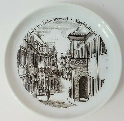 Small Vintage Larr Black Forest Market Schwarzwald Souvenir German Coaster