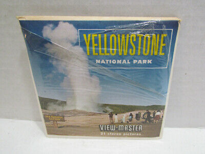 View-Master Packet A 306 Yellowstone National Park Vintage Viewmaster 3 Reel Set