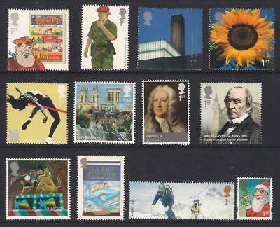 GB Postage - 12 x 1st Class Mixed Stamps, FV £8.40 (Lot 4)