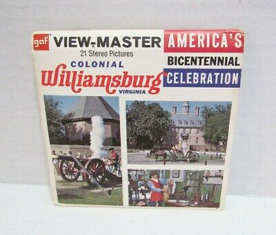 View-Master Packet A 813 Colonial Williamsburg Virginia Bicentennial Viewmaster