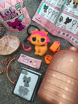 Lol Surprise Fuzzy Pets Glitter Poodle Rare Doll  Makeover Series New Gold