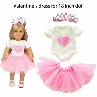 Cute Doll Clothes Skirt Tutu Clothes Coat Crown Girl Toy for 18 Inch Doll Clothe