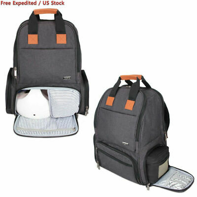 Luxja Breast Pump Backpack with Pockets for Laptop and Cooler Bag - Black