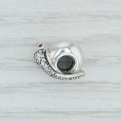 New Authentic Pandora Sparkling Snail Charm - 797063CZ Sterling Silver Bead