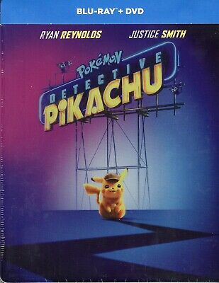 Detective Pikachu (2019) S. E.Blue Ray Metal Box Booking