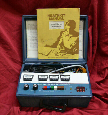 Heathkit CRT Tester And Rejuvenator Model IT-5230 * WORKS * WITH MANUAL & CASE