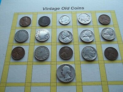 Estate Lot of Old Coins 50 to 125 Years Old with Some Silver  16 Coins  (OC21)