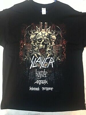 SLAYER, LAMB OF GOD, TESTAMENT, BEHEMOTH 2018 Tour TShirt - Size XL