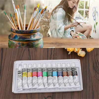 Tubes Artist Acrylic Paint Set Draw Pigment with Brush Watercolor Oil Painting