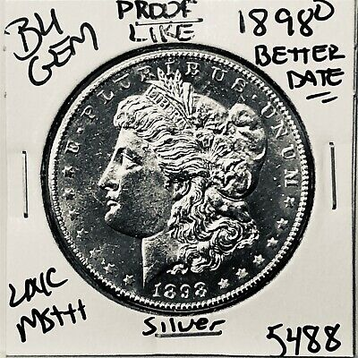 1898 O Bu Gem Morgan Silver Dollar Unc Ms++ U.s. Mint Rare Coin 5488