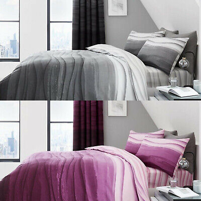 NEW Duvet Cover with Pillow Case Bedding Set Single Double King SK WAVE OMBRE
