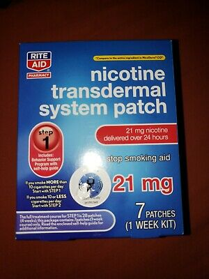 X1 Step 1 Nicotine Transdermal System Patch, 7 Patches, Step 1 21mg 1 WEEK 09/20