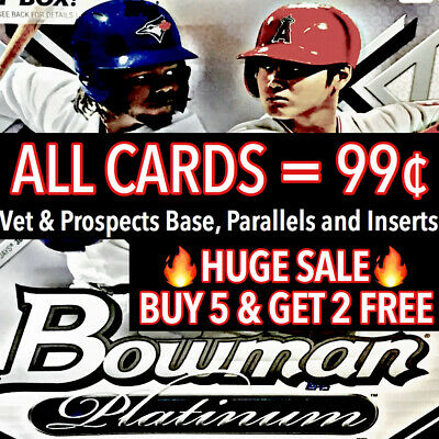 2019 Bowman Platinum You Pick [UPDATING] - MASSIVE UPDATE DROPPING AT NOON EST