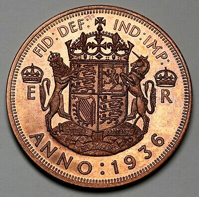 1936 Great Britain UK  Edward VIII Pattern / Fantasy Crown Proof Copper