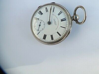 """an antique hallmarked silver cased """"graves of sheffield"""" pocket watch"""