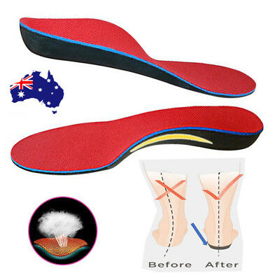Orthotic Shoe Insoles Flat Feet Foot High Arch Gel Heel Support Inserts Pads Hot