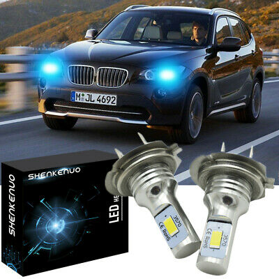 🔥2pc H7 LED Headlight Bulbs 100W 11000LM Extremely Bright ICE BLUE 8000K