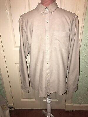 Ex River Island Mens White Short Oxford Slim Fit Sleeve Button Up Shirt Size XXS