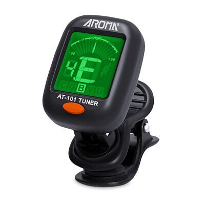 Acoustic Electric Tuner Lcd Clip On Chromatic Bass Ukulele Banjo Guitar Violin
