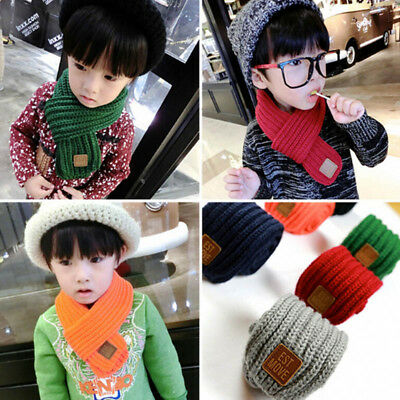 Boys Kids Child Winter Warm Color Scarf Knitting Children Neck Warmer Scarf New