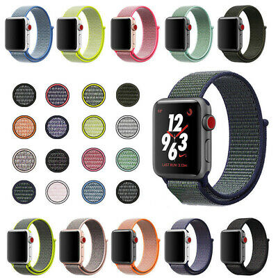 Sport Replacement Nylon Loop Watch Band Strap For Apple iWatch 4 38/42mm 40/44mm