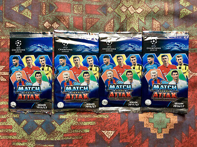 *NEW* Topps Match Attax UEFA Champions League 2016/17 Cards - 4 Promo Packs