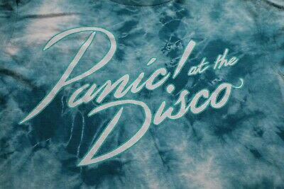 Panic at the Disco Tour Concert T-Shirt Tie Dyed Shirt M Blue