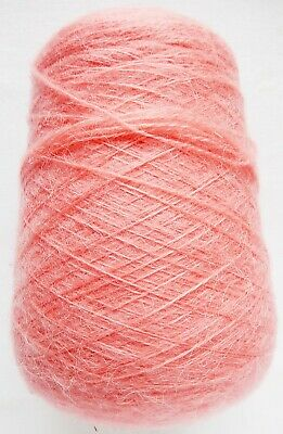 Crafts Mohair Coral Hand/Knitting Machine Yarn Cone 439 gm Preowned Unused