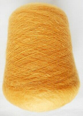 Crafts Mohair Yellow Hand/Knitting Machine Yarn Cone 431 gm Preowned Unused