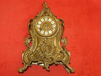 A Stunning Vintage Solid Brass French Clock Appox  5 Kilos In Weight