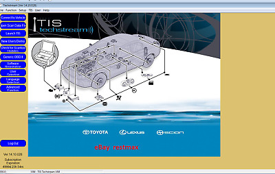 NEW Techstream 04/19 Toyota Lexus TIS V14.10.028 for unlimited computers
