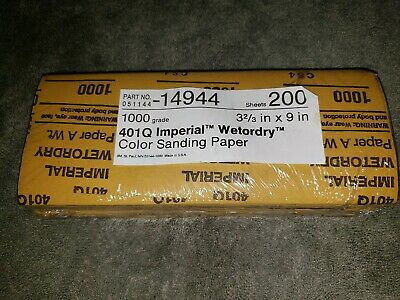 3M Wetordry Paper Sheet 401Q, 3 2/3 in x 9 in 1000 A weight, 200 Sheets