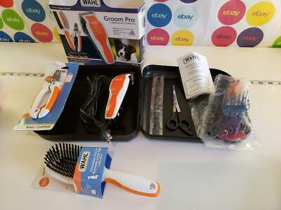 WAHL Groom Pro Pet Clipper Kit Nail Clipper & Double Sided Pin Bristle Brush