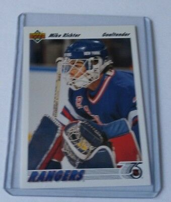 Mike richter 1991-92 ud upper deck 175 hockey card nhl rangers NY